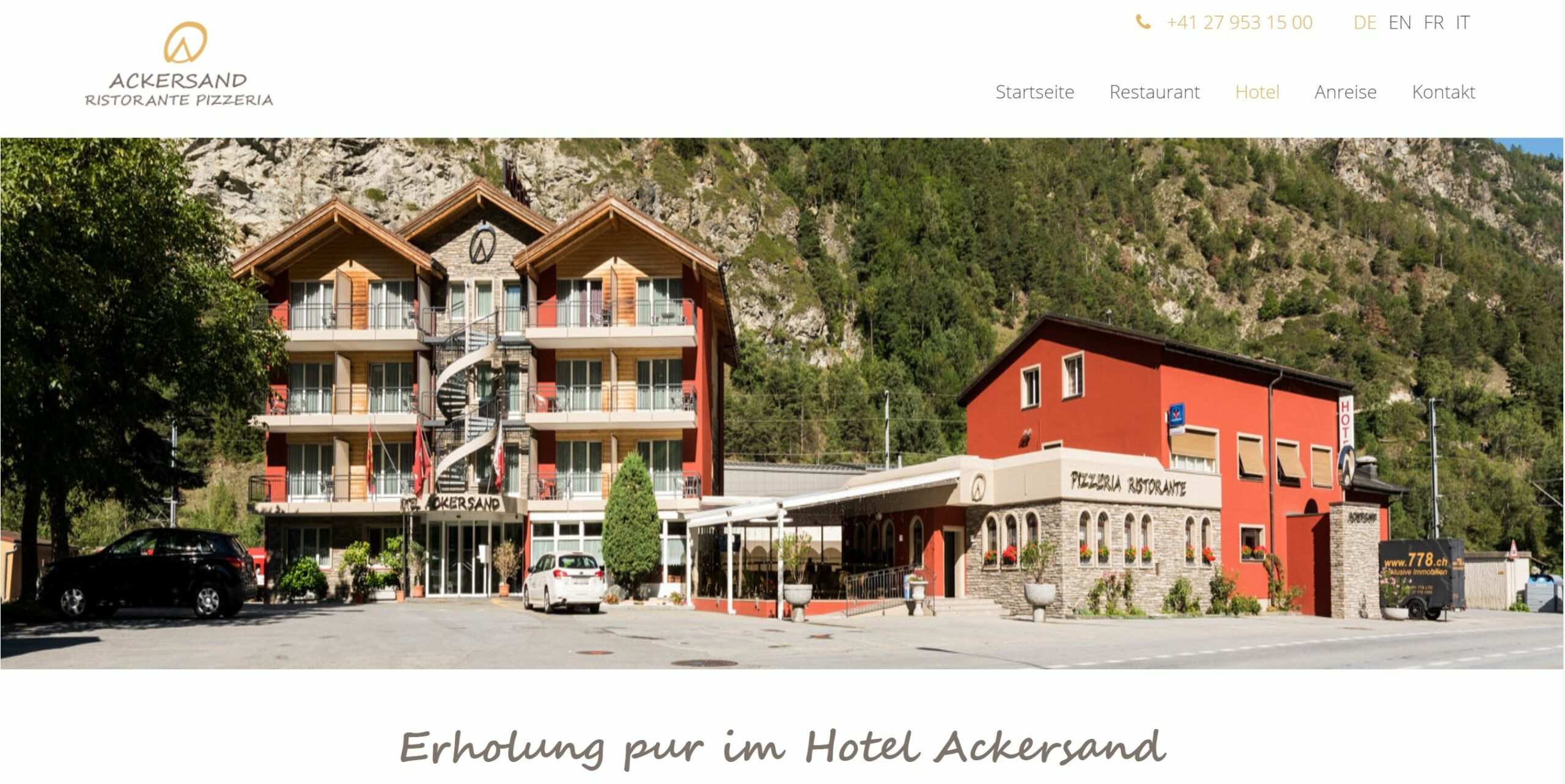 gutes hotel nähe zermatt und saas-fee