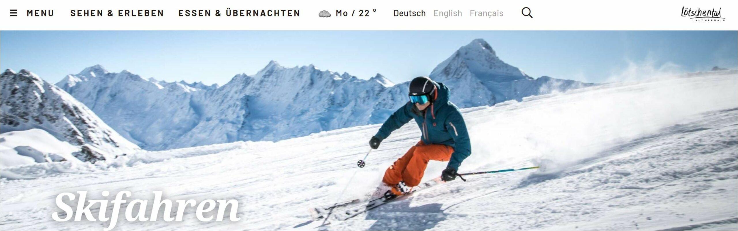 skifahren wallis